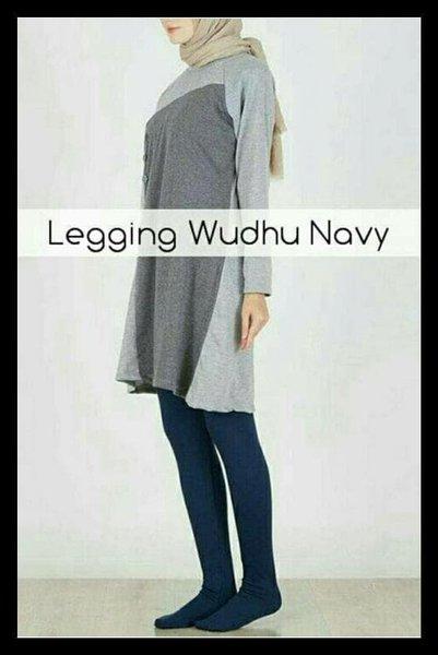 Diskon Legging Wudhu Navy Fashion Muslim Kekinian .