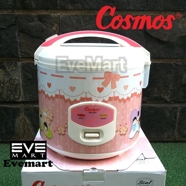 COSMOS Rice Cooker CRJ-3232 1.8 Liter Magic Com CRJ3232 CRJ 3232