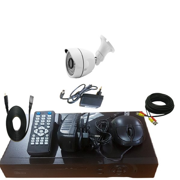 Promo Paket 1 Camera Outdoor HD 960p- 1 DVR HD 4Ch 1 Adaptor 1 A- Kabel 10M