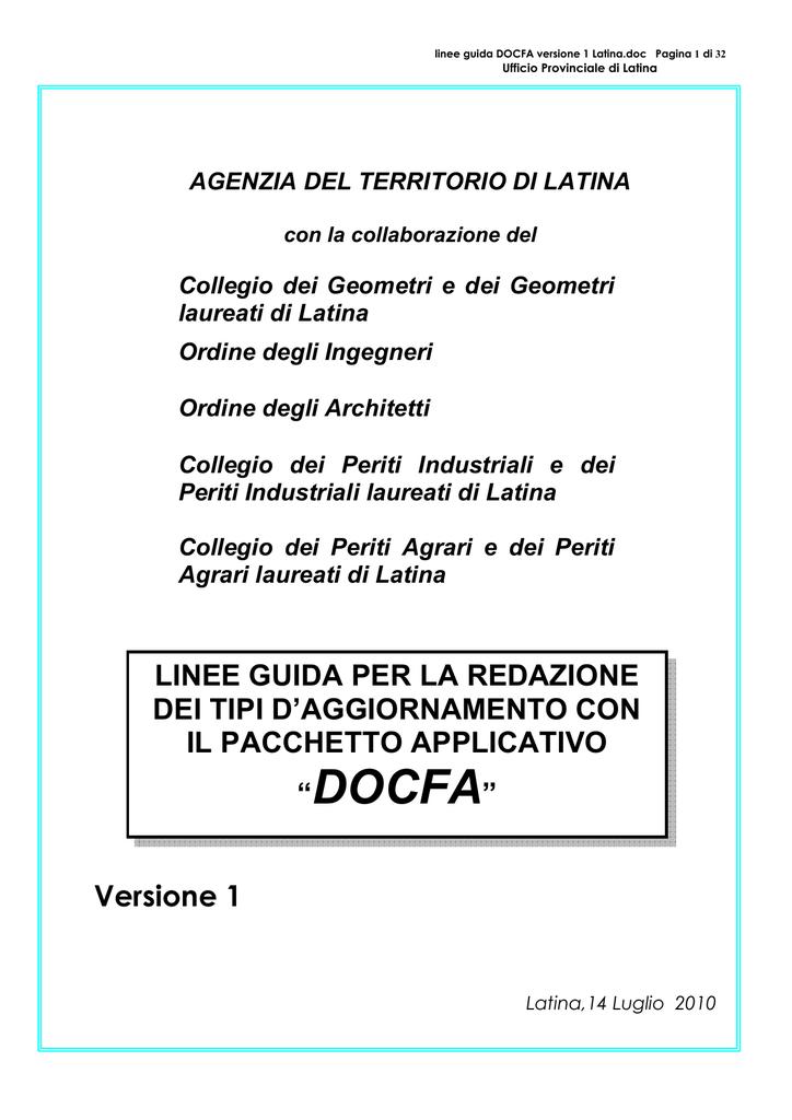 Docfa Ordine Degli Architetti Della Provincia Di Latina