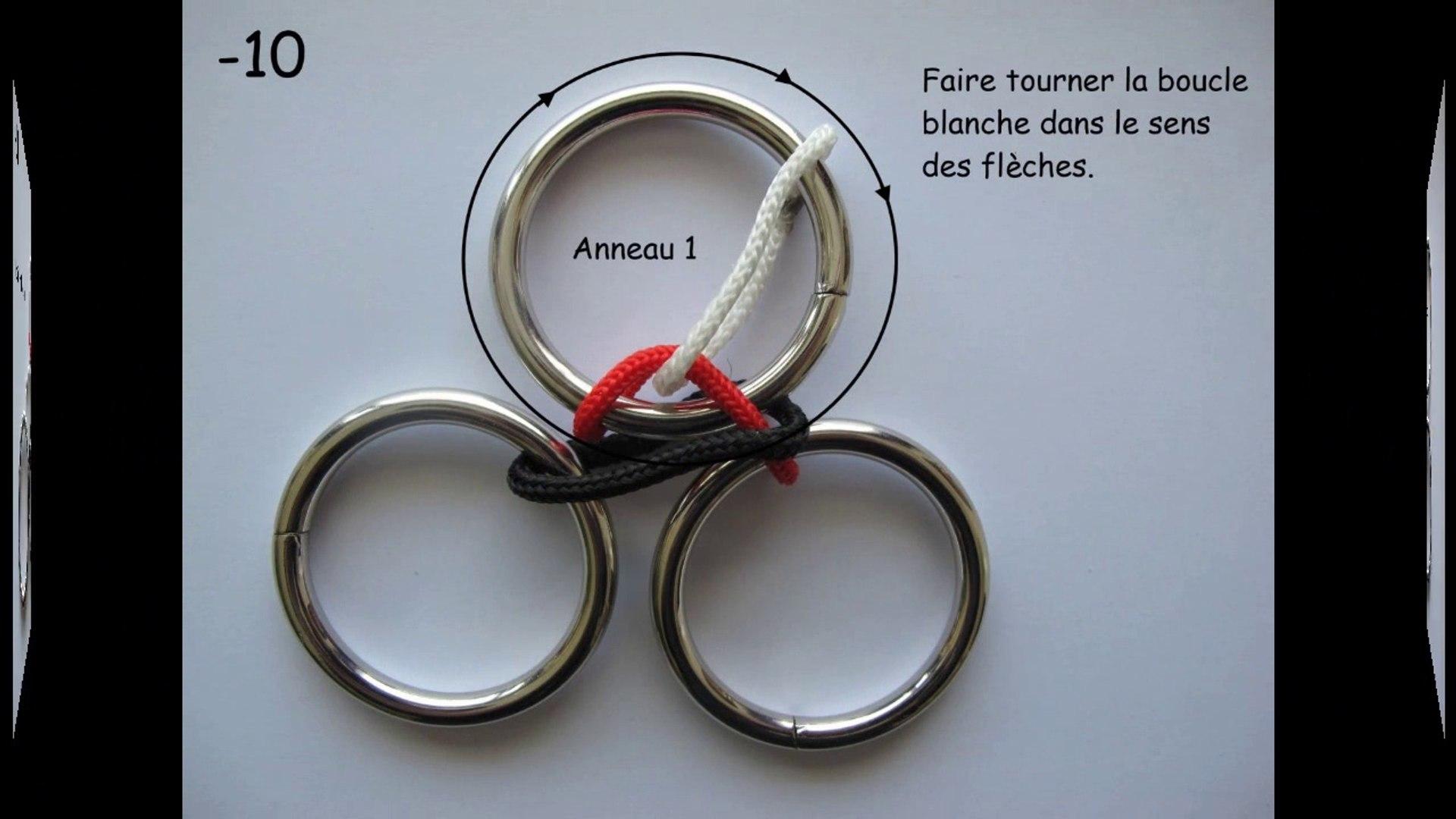 solution du casse tete des 3 anneaux