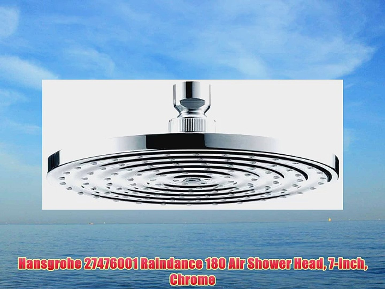 Hansgrohe 27476001 Raindance 180 Air Shower Head 7 Inch