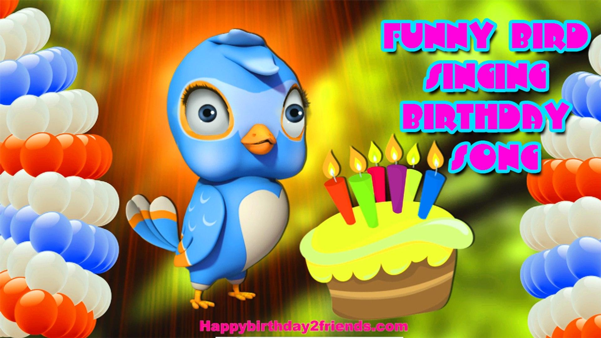 Best Happy Birthday Song Funny Bird Singing Birthday Song Video Dailymotion