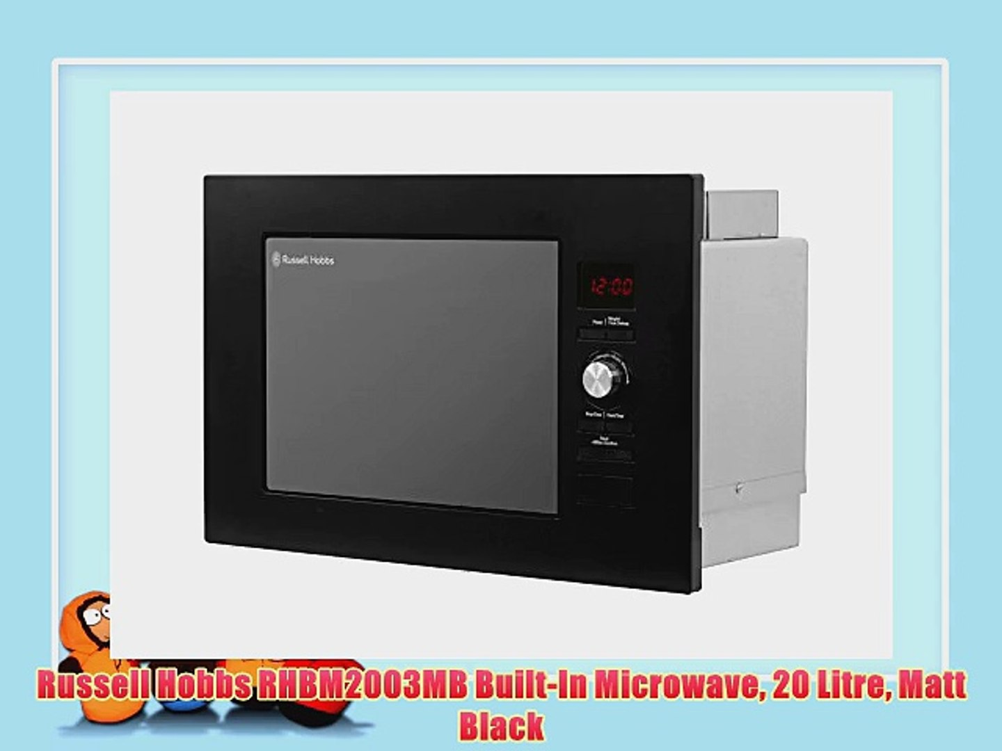 l silver digital microwave with