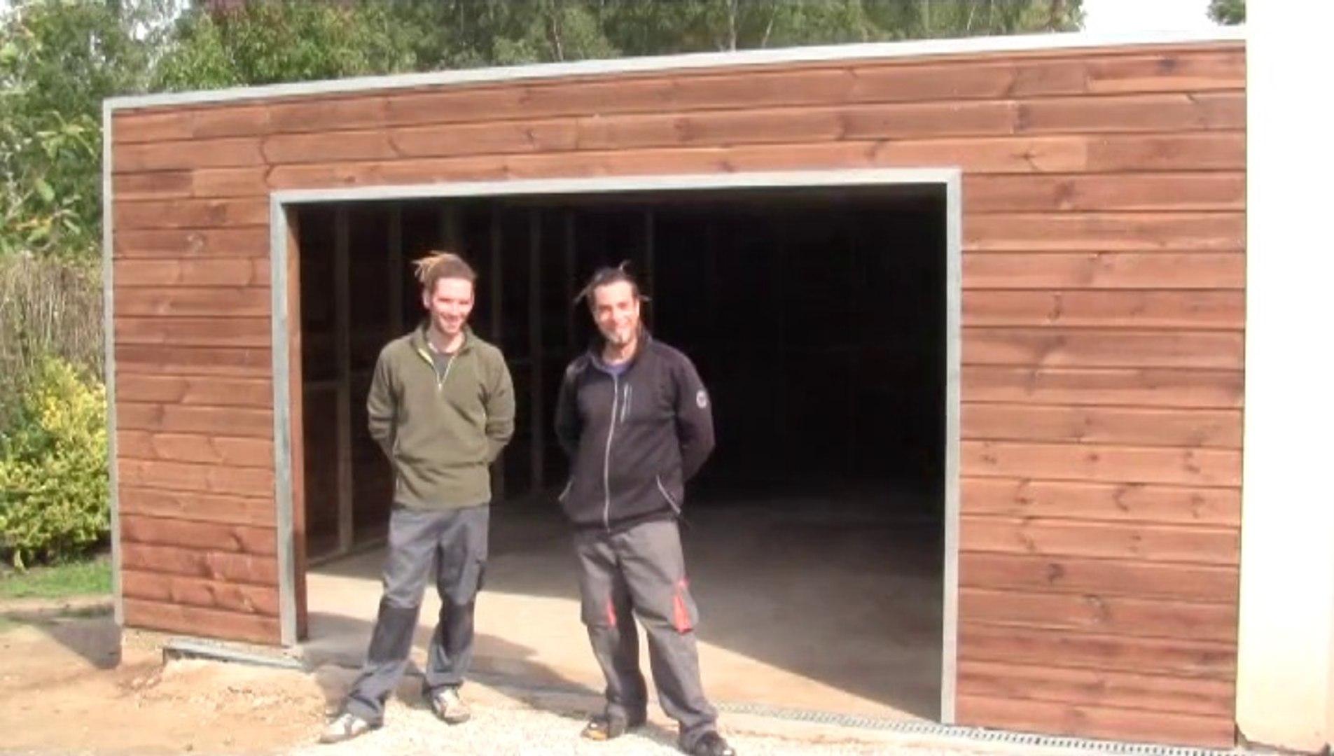 Natty Bois Garage Ossature Bois Avec Toit Plat Couverture Epdm Video Dailymotion