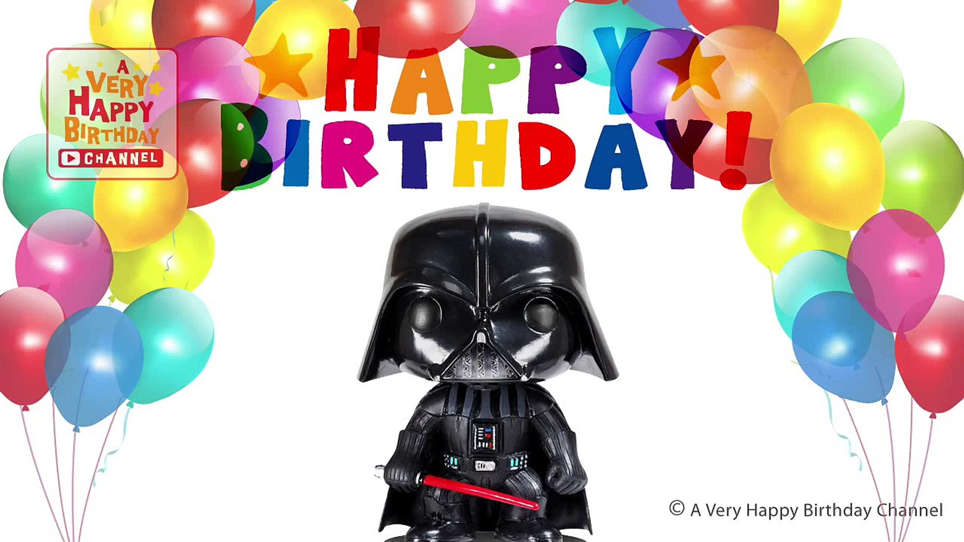 Darth Vader Sings Happy Birthday Song Greetings Star Wars Theme Party Celebration Dailymotion Video
