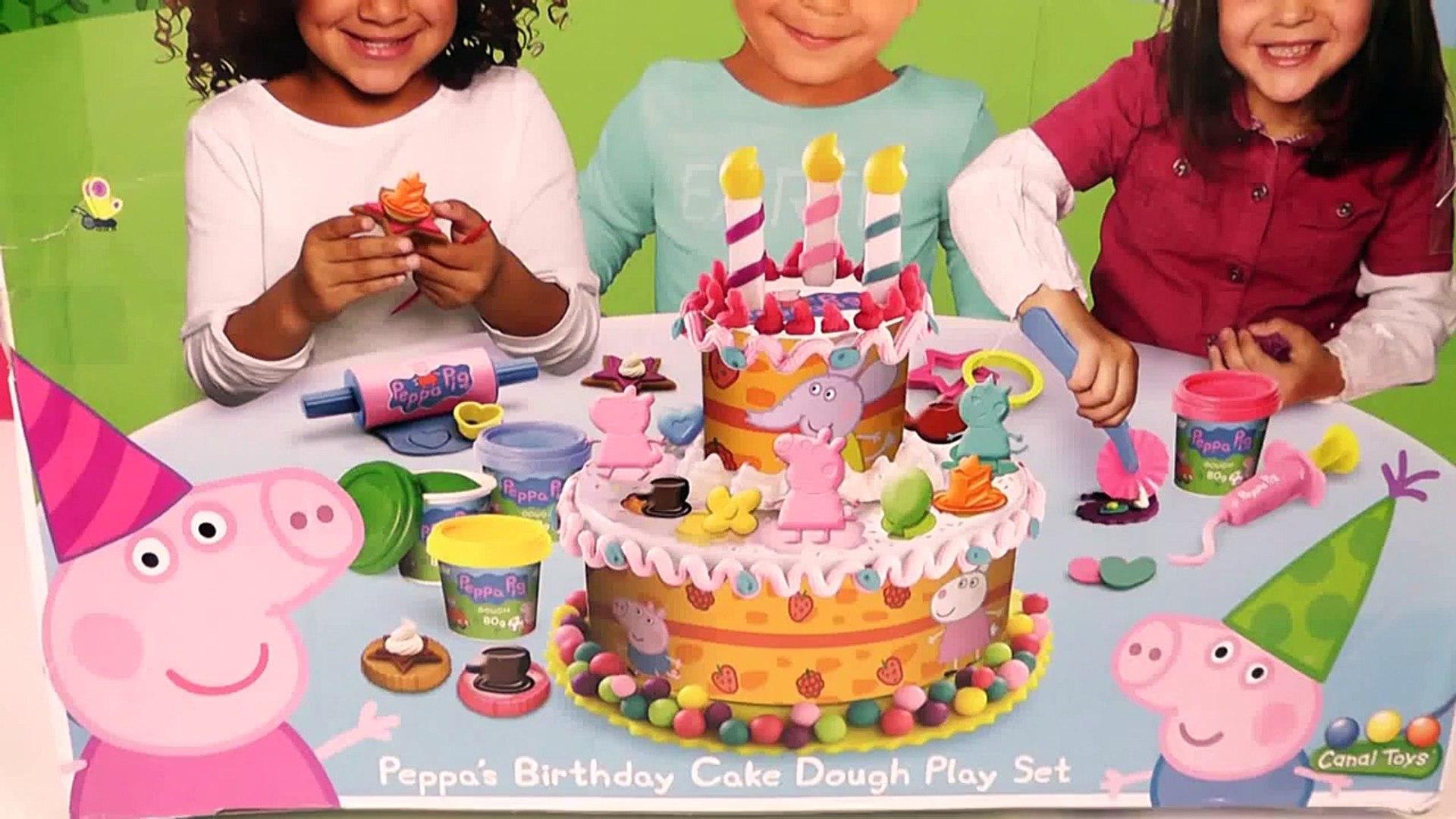 Play Doh Peppa Pig Birthday Cake Dough Set Torta De Cumpleanos Bolo De Aniversario Plastilin New Video Dailymotion