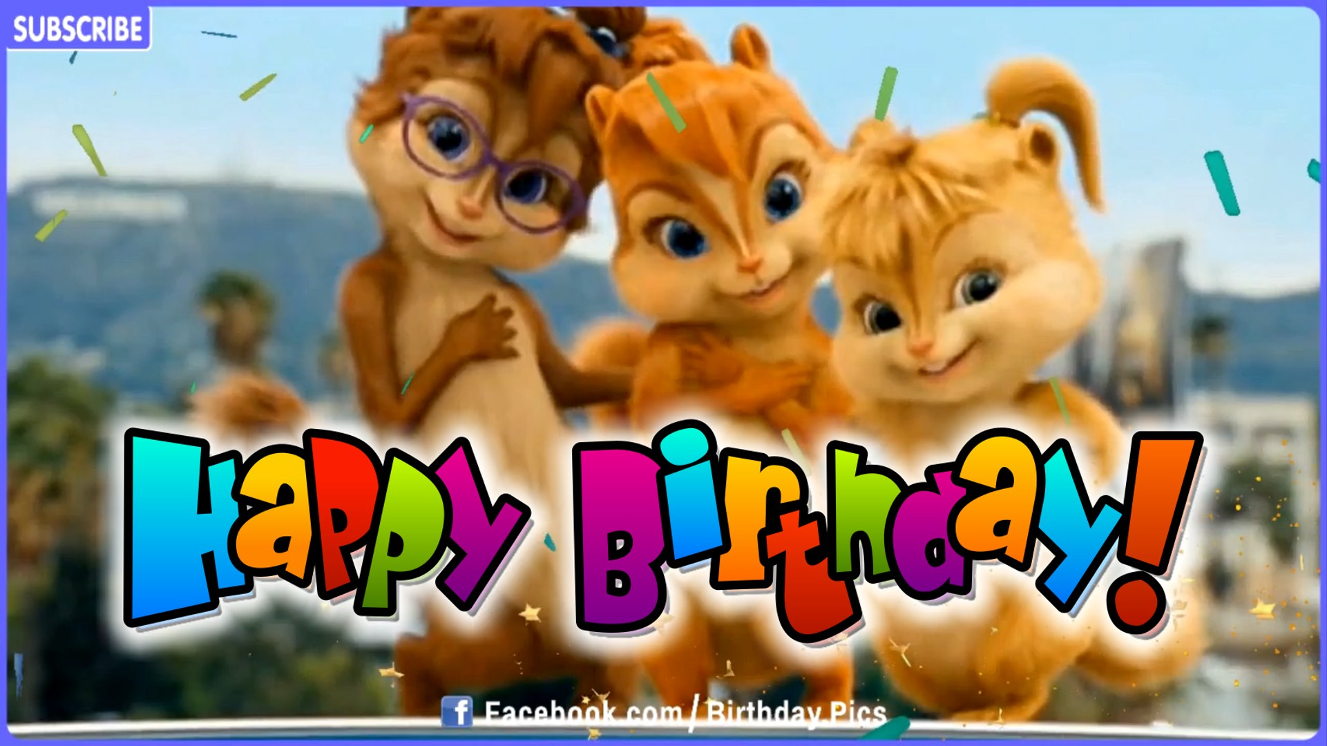 Chipmunks Chipettes Style Happy Birthday Song Video Dailymotion Video