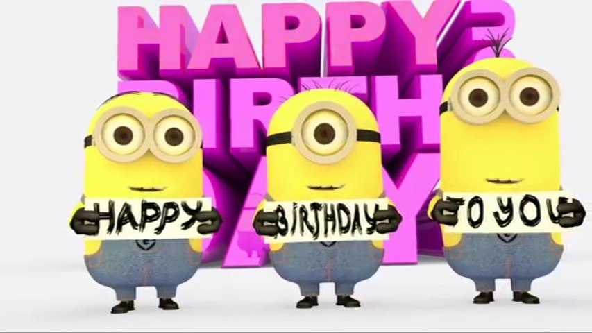 Minions Happy Birthday Song Video Dailymotion