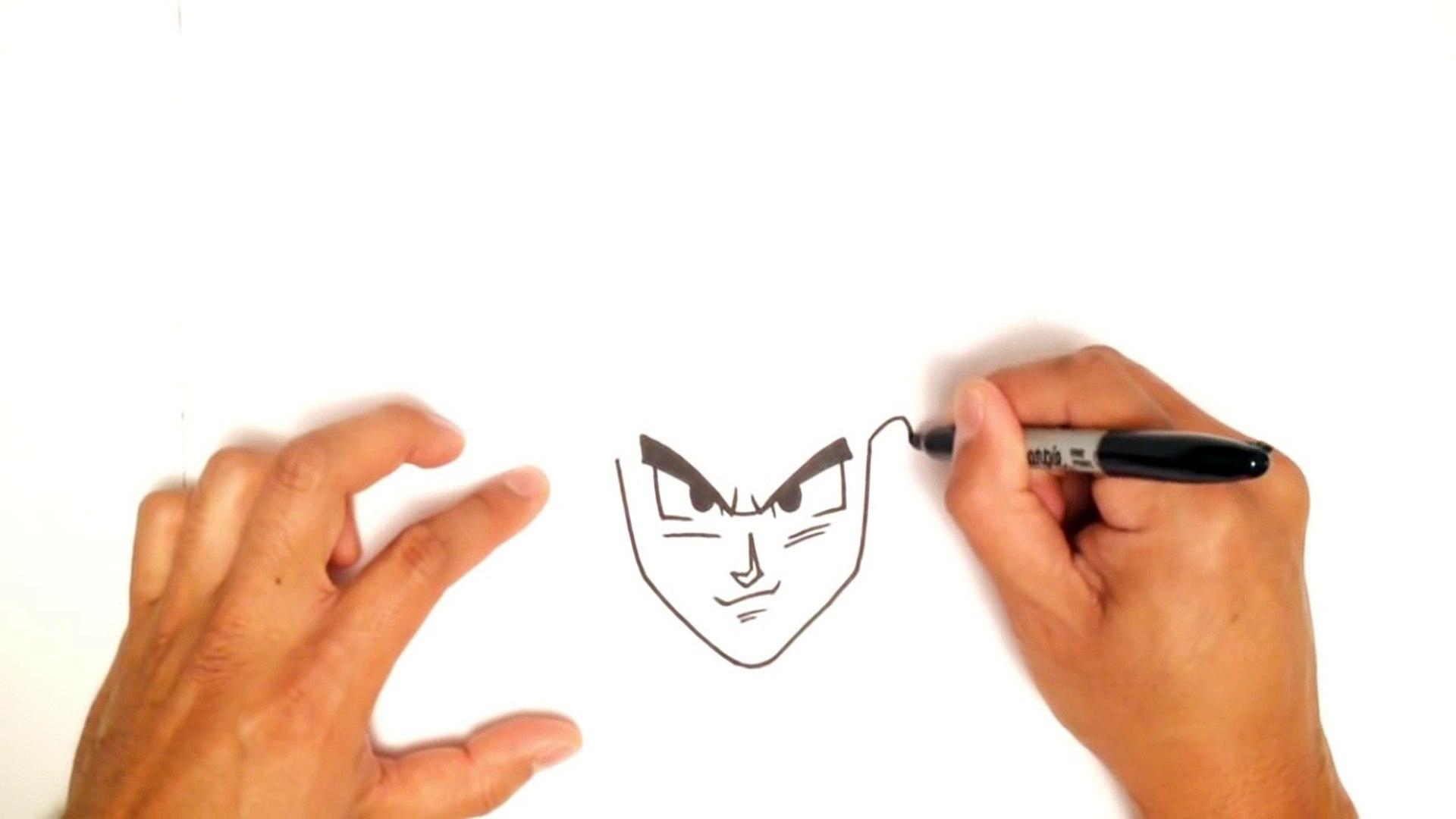 Comment Dessiner Goku Facilement Video Dailymotion