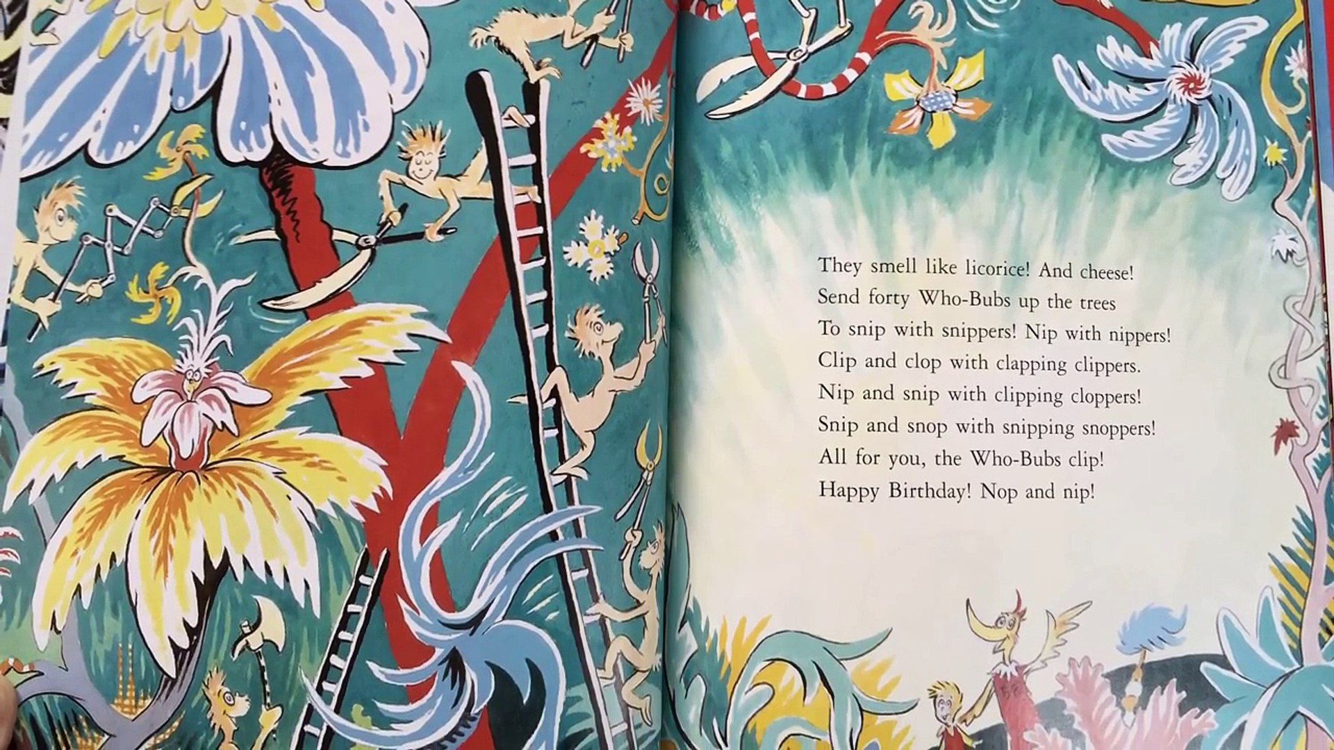 Happy Birthday To You By Dr Seuss Read Aloud Dr Seusss Birthday Video Dailymotion