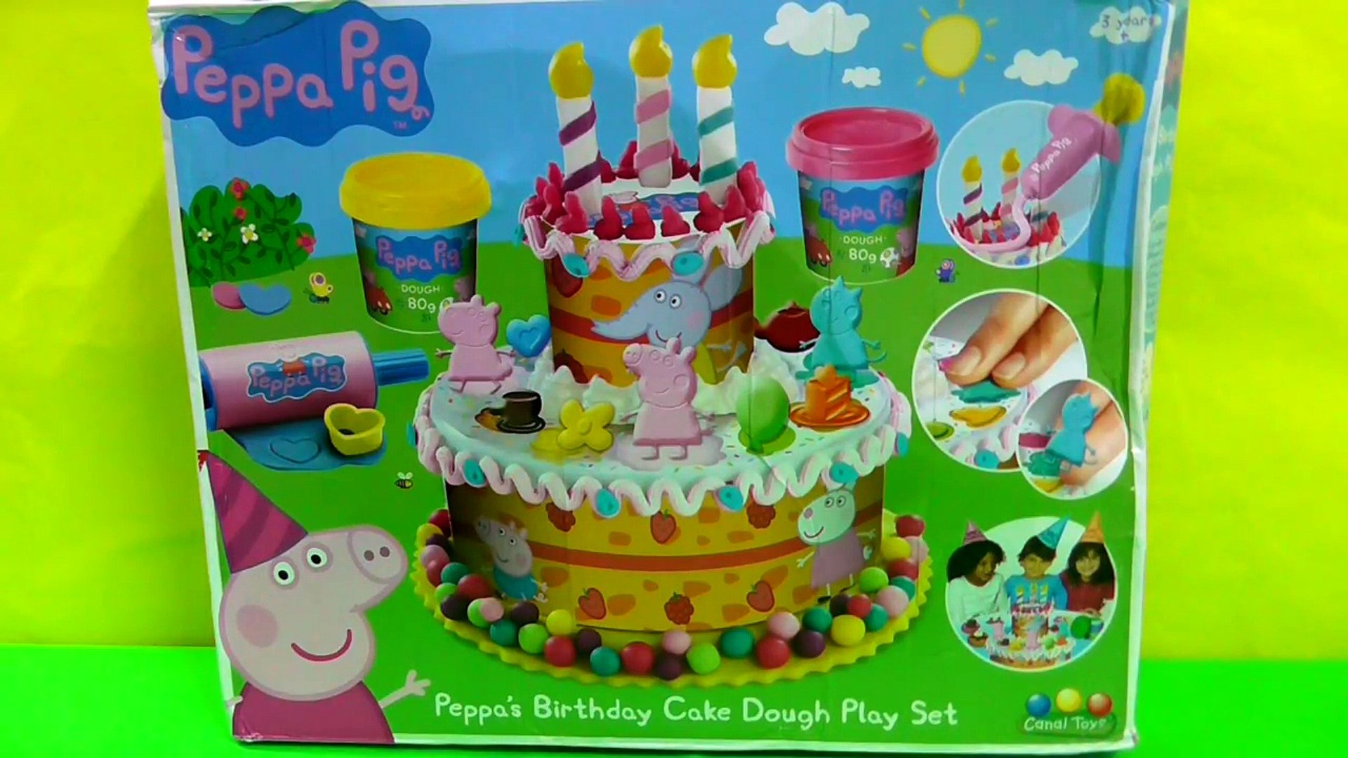 Peppa Pig Play Doh Birthday Party Cake Dough Playset 影片 Dailymotion