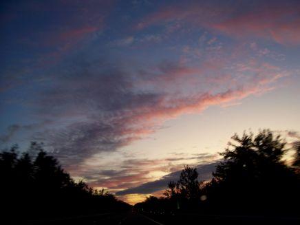 Sunrise over I-81 in Pennsylvania, on my return trip.