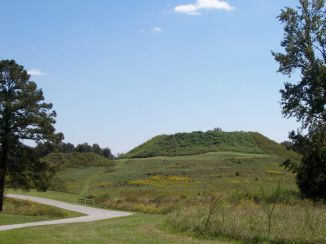 Lesser (left) and Great Temple Mound (right)
