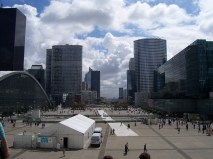 Looking towards Paris from La Défense