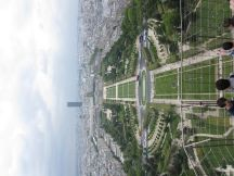 Champ de Mars from the second floor of Tour Eiffel