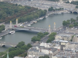 Pont Alexandre III from the top of Tour Eiffel