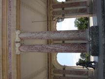 Columns of pink marble at The Grand Trianon