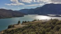Pyramid Dam, impounding Pyramid Lake and feeding the Los Angeles Tunnel