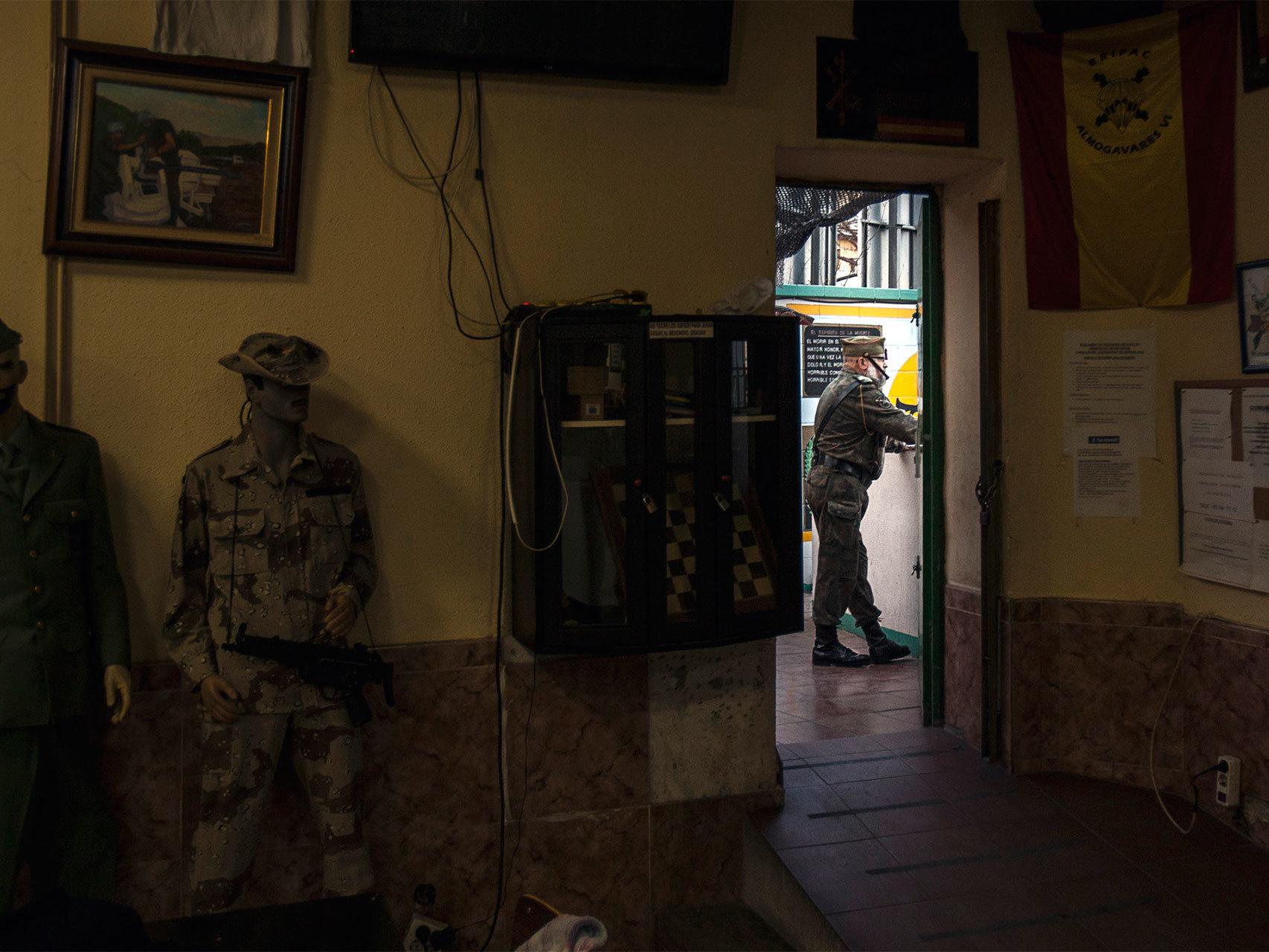 Interior de la Hermandad de Legionarios de Barcelona.