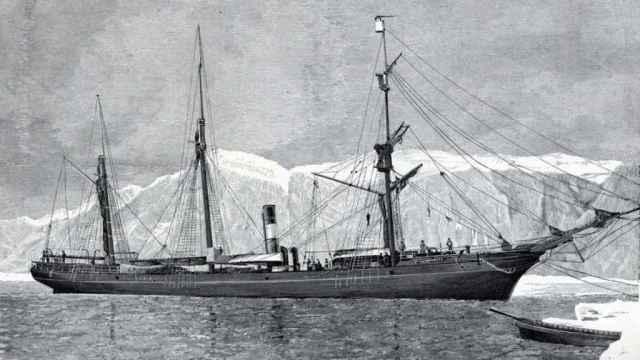 El ballenero 'Proteus' condujo al Ártico a la expedición de Geely.