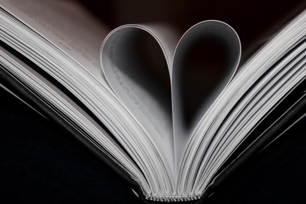 black, book, heart, inspiration, love, regine, vintage, white