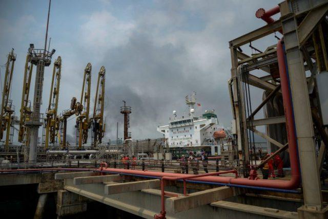 An Iranian-flagged oil tanker