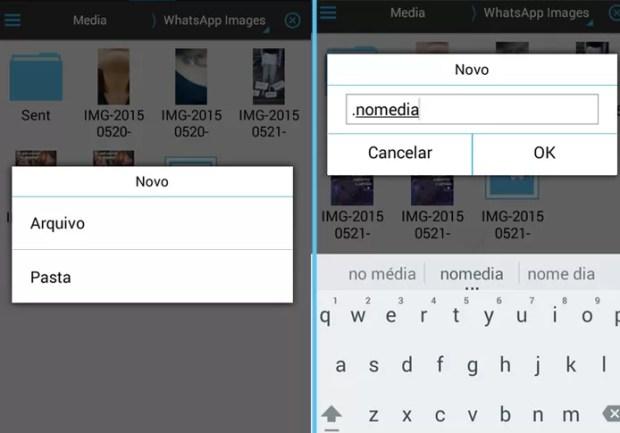 Este arquivo é o responsável por ocultar a pasta de imagens do WhatsApp