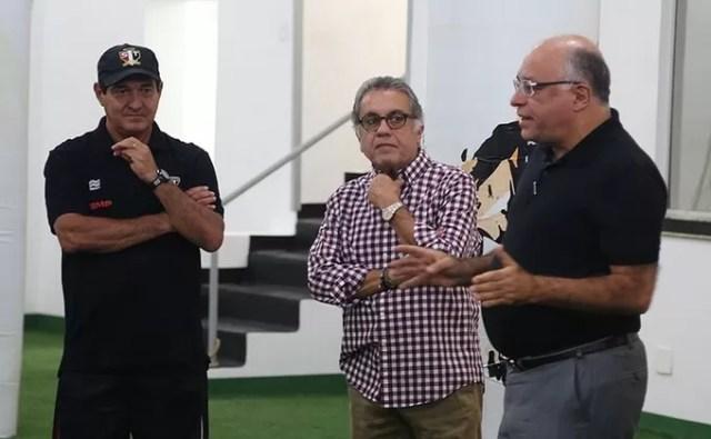 Muricy Ramalho, Carlos Miguel Aidar e Ataíde Gil Guerreiro (Foto: Rubens Chiri/saopaulofc.net)