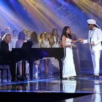 Carlinhos Brown cantou junto com a filha no The Voice Brasil