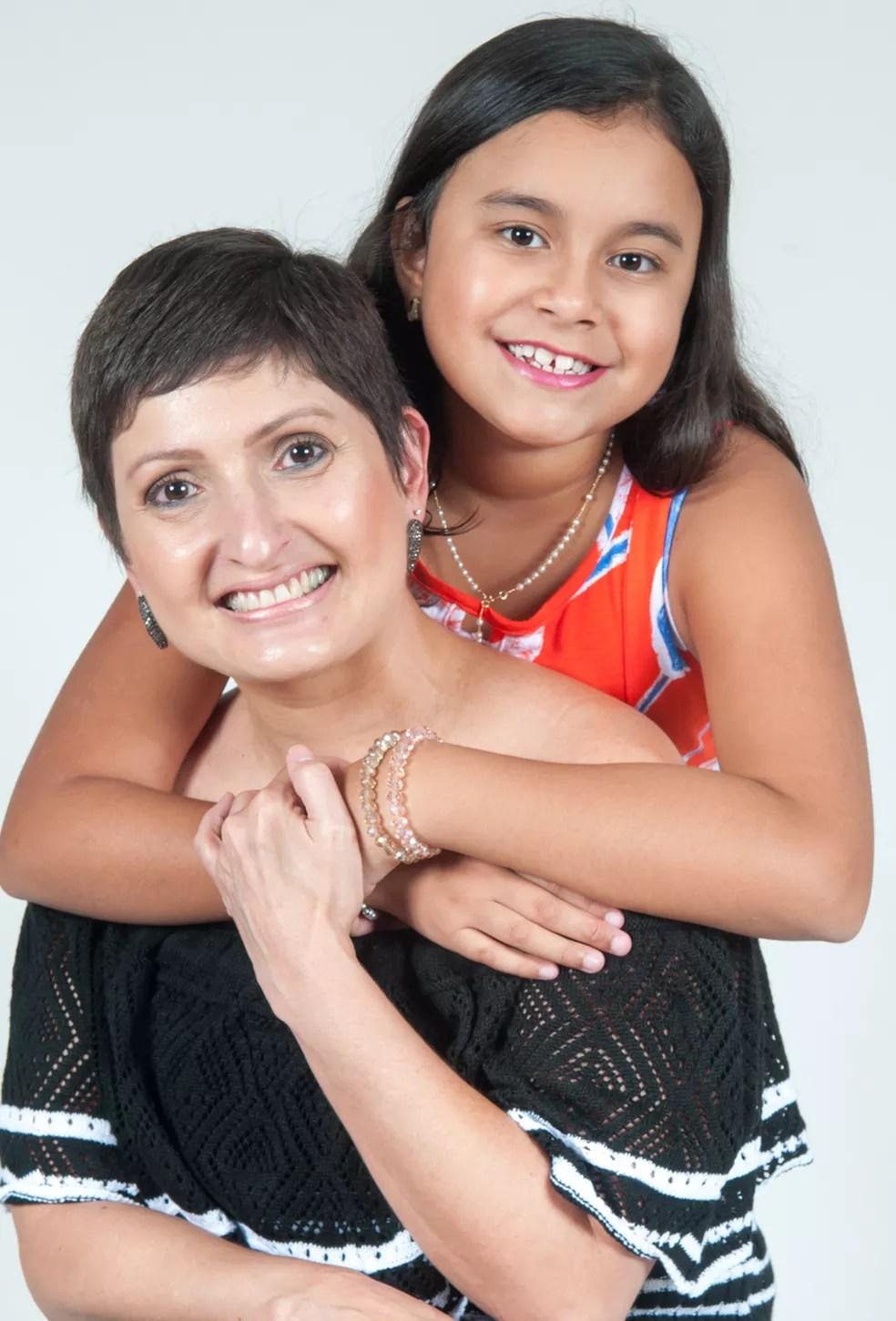 Raquel e filha Valetina participaram do ensaio