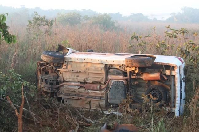 Dois policiais militares e duas mulheres morreram após serem atropelados na saída de festa clandestina em Humaitá, no AM. — Foto: Lucas Lobo/Rede Amazônica