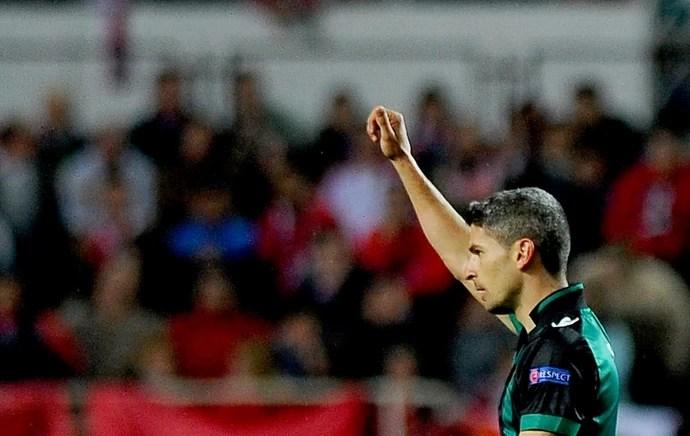 Salva comemoração Betis contra Sevilla (Foto: AFP)