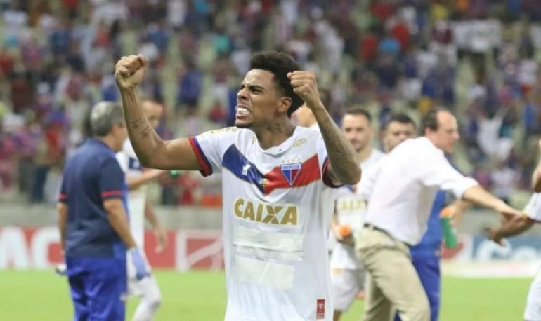 Gustagol fez 30 gols pelo Fortaleza em 2018 — Foto: Pedro Chaves/Canal da Bola CE