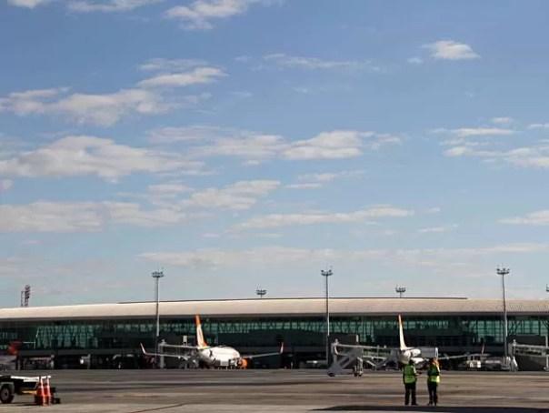 Píer Norte do Aeroporto JK, em Brasília (Foto: Vianey Bentes/TV Globo)