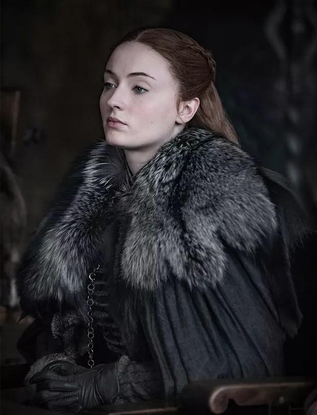 Sansa Stark (Sophie Turner) em cena da última temporada de Game of Thrones (Foto: Dilvulgação/HBO/Helen Sloan)