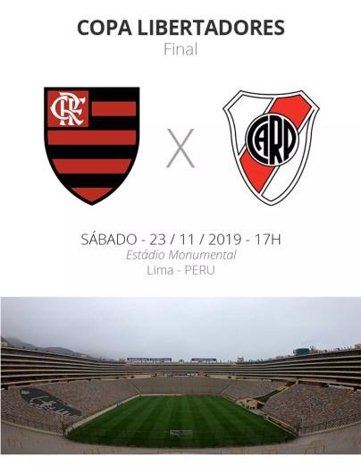 Ficha - Flamengo x River Plate — Foto: GloboEsporte.com