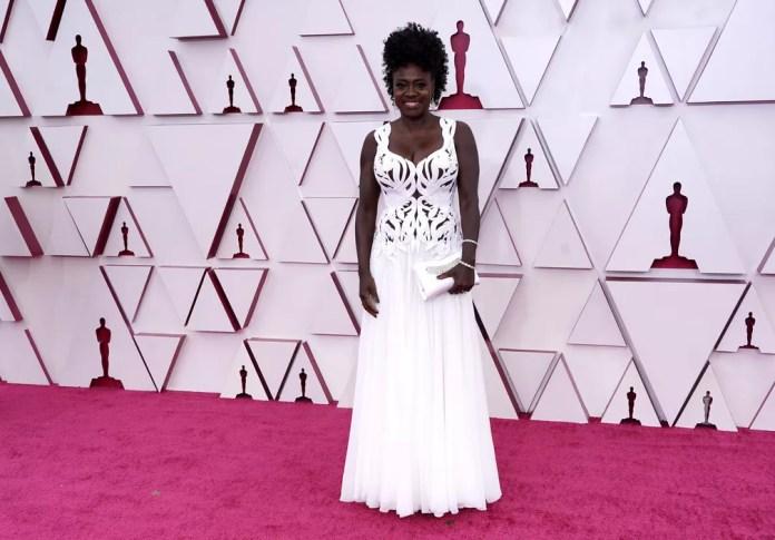 Viola Davis no Oscar 2021 — Foto: AP Photo/Chris Pizzello