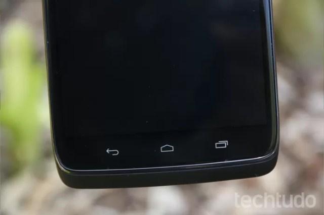 Botões com sensibilidade ao toque do Moto Maxx (Foto: Lucas Mendes/TechTudo)