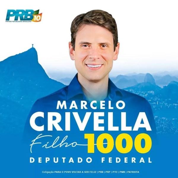 Marcelo Crivella Filho, herdeiro de Marcelo Crivella, não foi eleito deputado pelo Rio de Janeiro. — Foto: Reprodução/Facebook