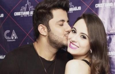 Cristiano Araújo e a namorada, a estudante Allana Moraes, morreram em acidente de carro — Foto: Arquivo Pessoal
