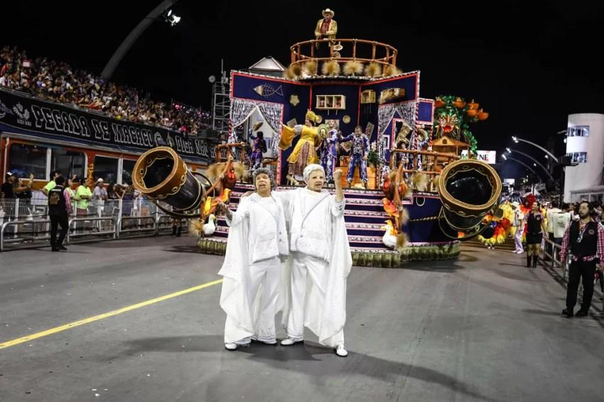 Dragões da Real vai para a avenida com enredo que homenageia a música sertaneja (Foto: Fábio Tito/G1)