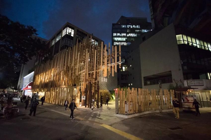 Fachada da Japan House, na Avenida Paulista — Foto: Marcelo Brandt/G1