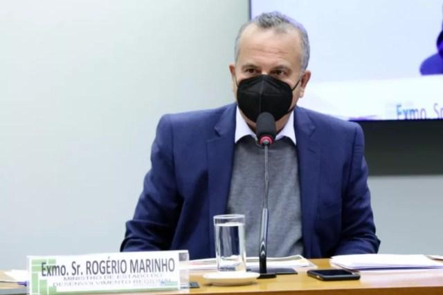 Ministro Rogério Marinho (Desenvolvimento Regional) participa de audiência na Câmara dos Deputados — Foto: Gustavo Sales/Câmara dos Deputados