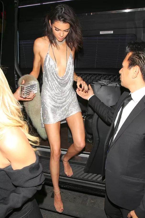 Kendall Jenner em seu aniversário de 21 anos (Foto: AKM-GSI)