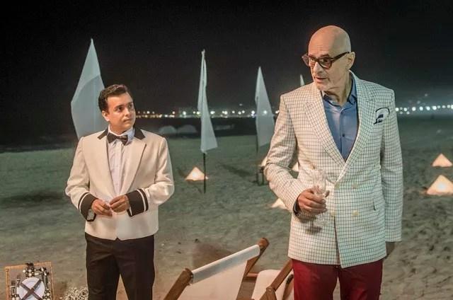 Rodrigo Fagundes e Marcos Caruso gravam 'Pega ladrão' (Foto: TV Globo/João Cotta)