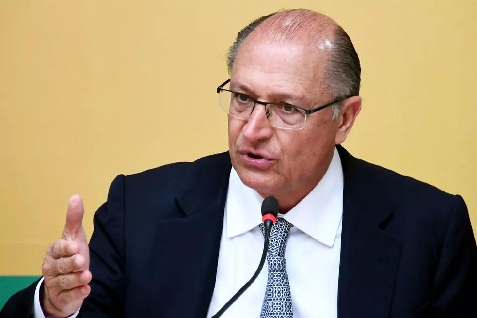 O candidato do PSDB a presidente, Geraldo Alckmin — Foto: Evaristo Sa/AFP