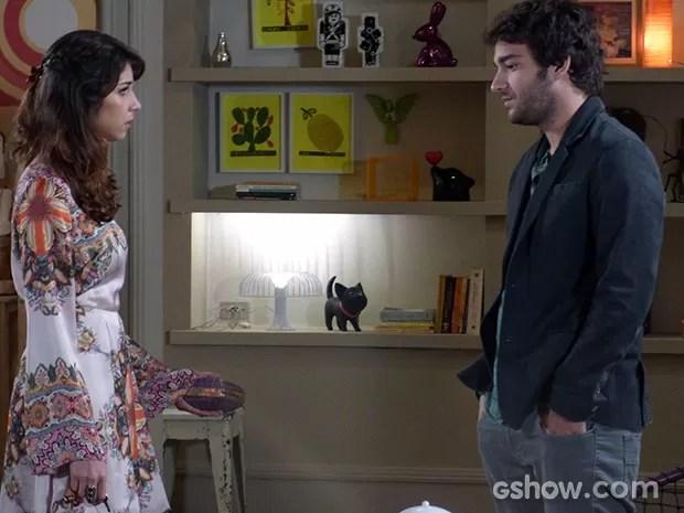 Davi e Manu discutem (Foto: Geração Brasil / TV Globo)