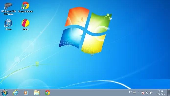 Windows 7 Professional (Foto: reprodução/Edivaldo Brito)