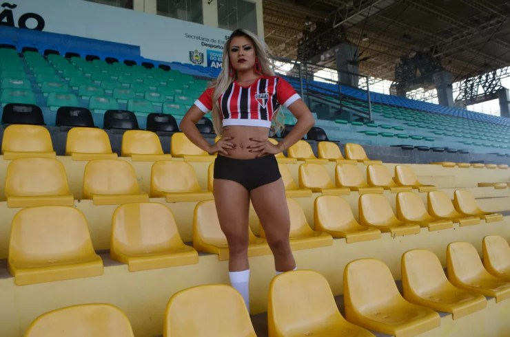 Maiele Gomes, candidata do São Paulo-AP ao Musa do Amapazão 2017 (Foto: Lorena Kubota/GE-AP)